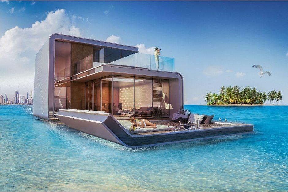 floating seahorse des villas de luxe flottantes qui prot gent les hippocampes. Black Bedroom Furniture Sets. Home Design Ideas