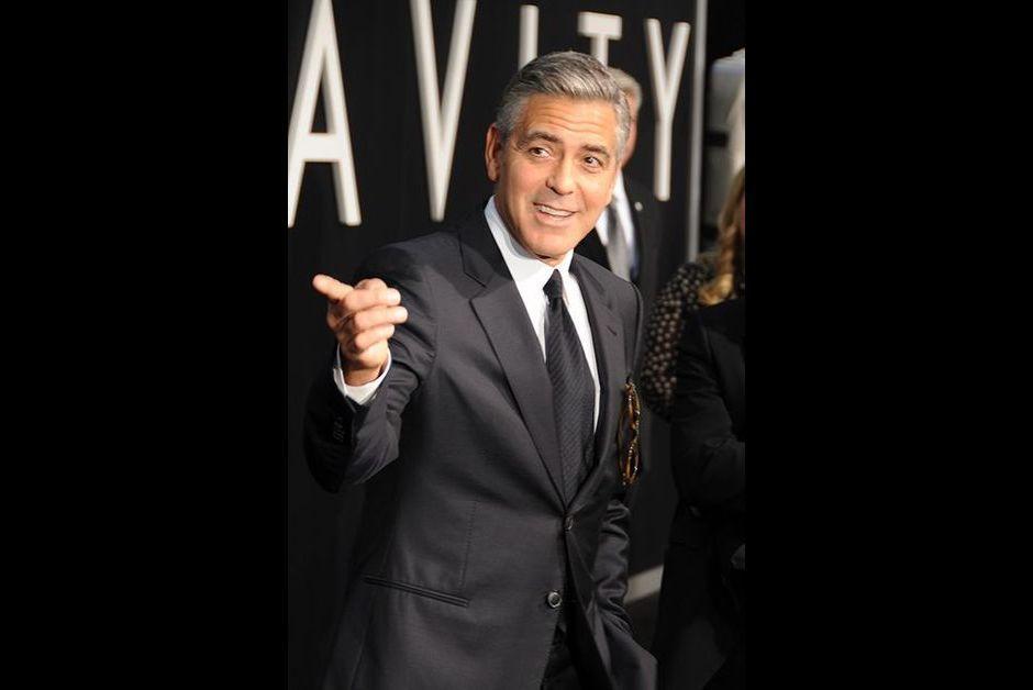 George Clooney à la première de Gravity, le 1er octobre 2013, à New-York.