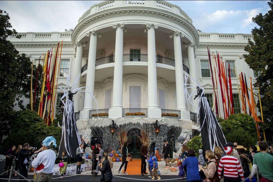 Barack obama a d j f t halloween la maison blanche for Barack obama a la maison blanche