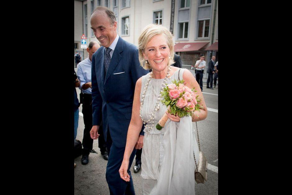 La princesse Astrid et son époux le prince Lorenz au concert de prélude à la Fête nationale