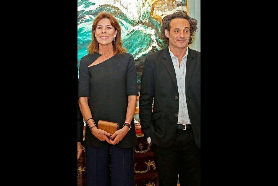 La princesse Caroline de Hanovre avec Fred Kleinberg à Monaco, le 16 septembre 2015
