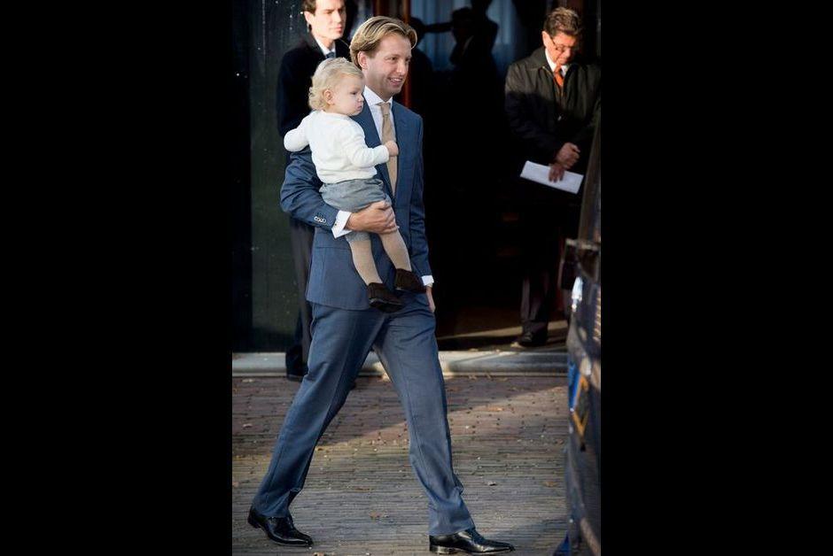 Le prince Floris et son fils Willem Jan à Apeldoorn, le 9 novembre 2014