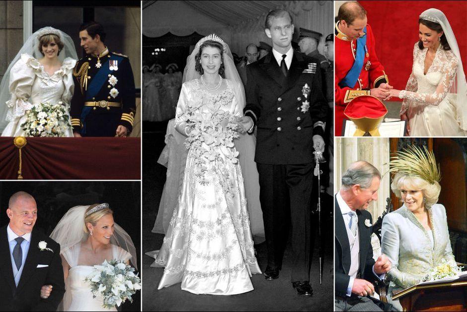 Royal Style \u2013 D\u0027Elizabeth II à Kate Middleton, les robes de mariée des  Windsor