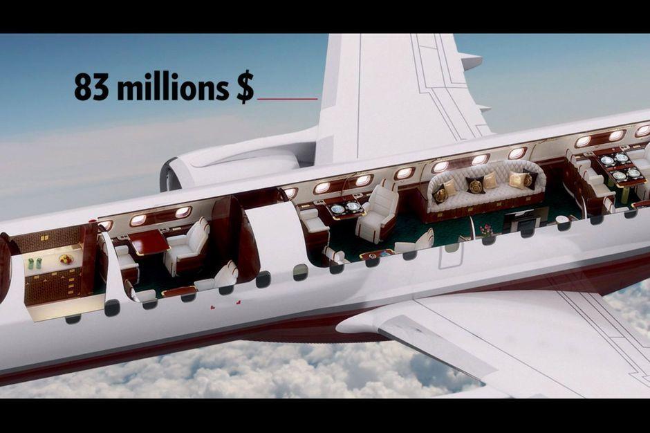 skyacht one un avion priv 83 millions de dollars. Black Bedroom Furniture Sets. Home Design Ideas