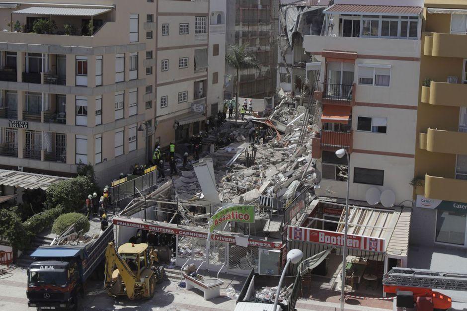 effondrement mortel d 39 un immeuble aux canaries. Black Bedroom Furniture Sets. Home Design Ideas
