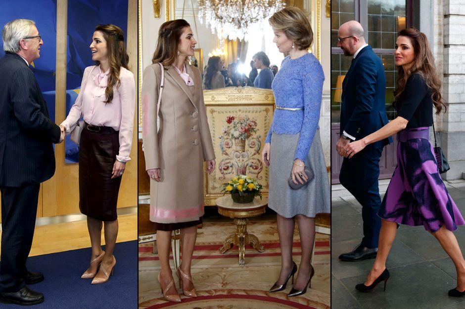 Reine de Jordanie en photos - Rania enchaîne les rencontres à Bruxelles