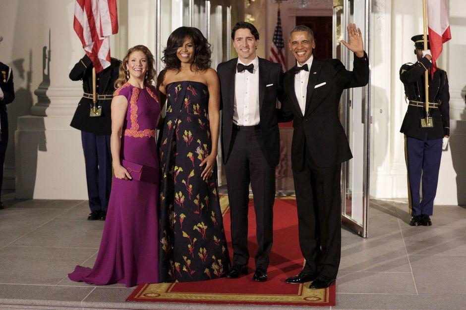 Obama trudeau d ner d etat la maison blanche for A la maison international