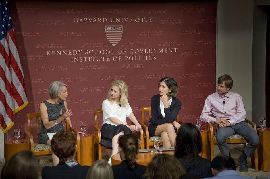 Les Pussy Riot à Harvard... puis au poste