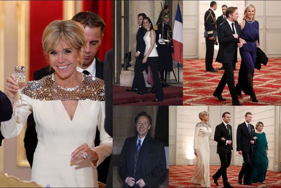 Emmanuel Et Brigitte Macron Diner D Etat Pour Henri Et Maria