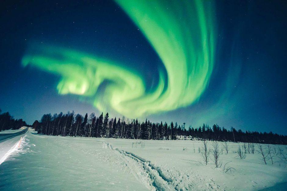 Le sublime spectacle des aurores boréales en Finlande