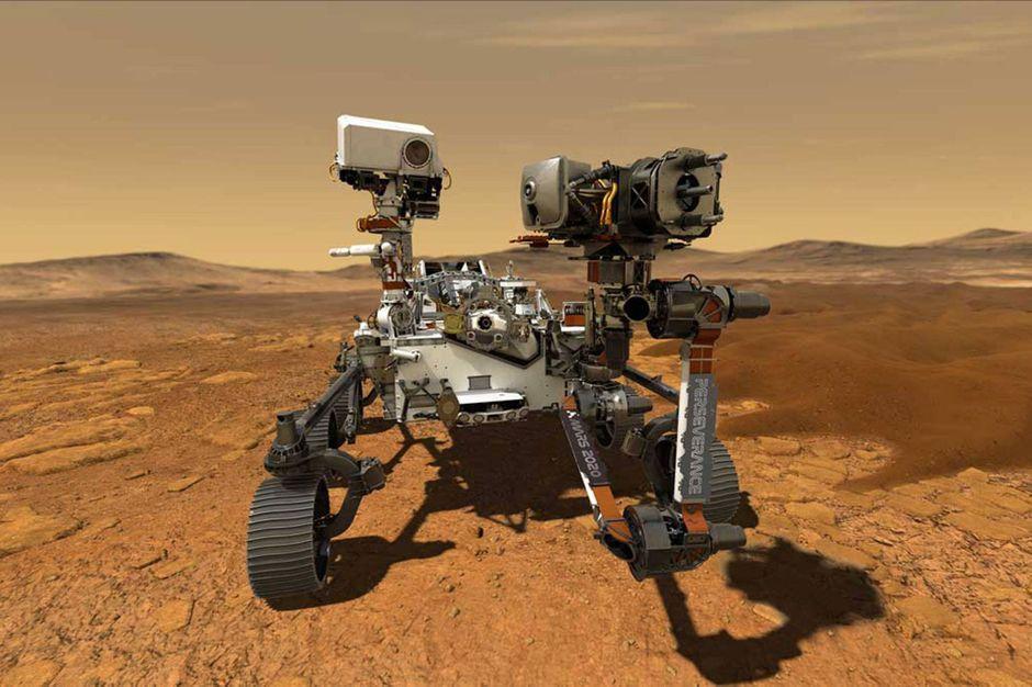 Atterrissage de Perseverance sur Mars :
