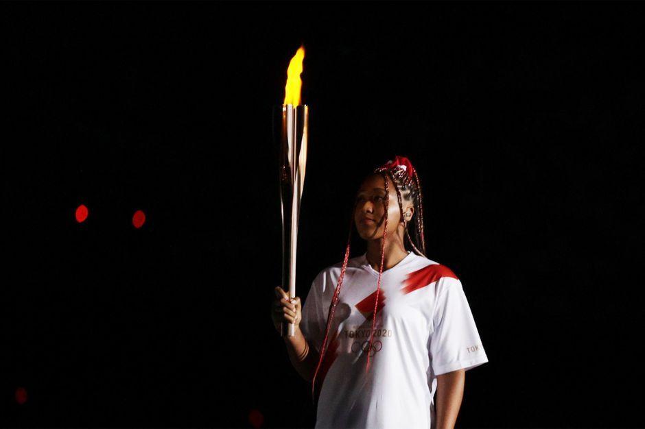 JO 2020 : l'émotion de Naomi Osaka, dernière relayeuse de la flamme olympique