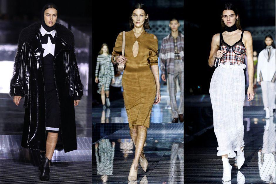 Irina Shayk, Bella Hadid, Kendall Jenner... les supermodels défilent pour Burberry