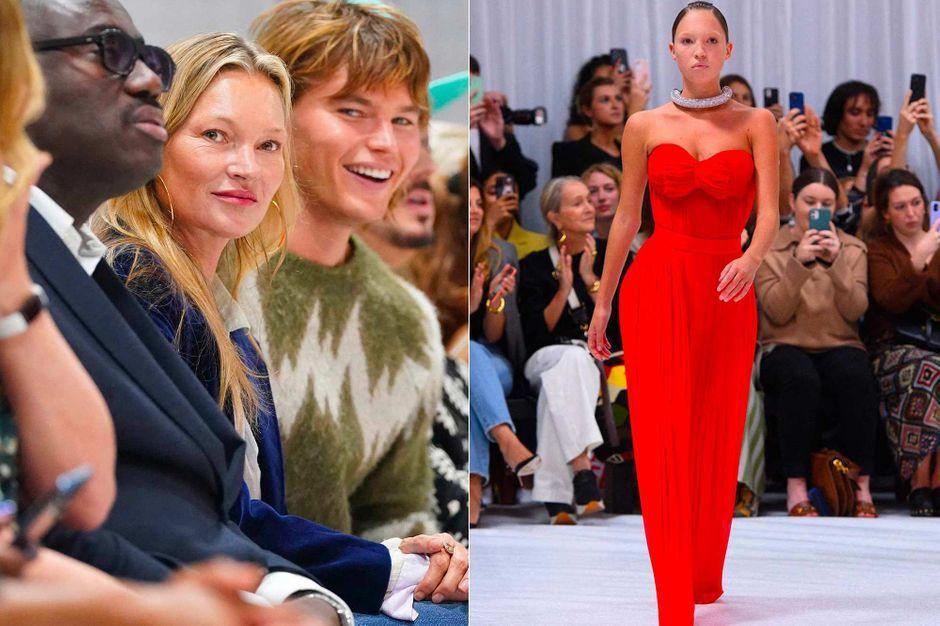 La fierté de Kate Moss lors du défilé de sa fille Lila Grace