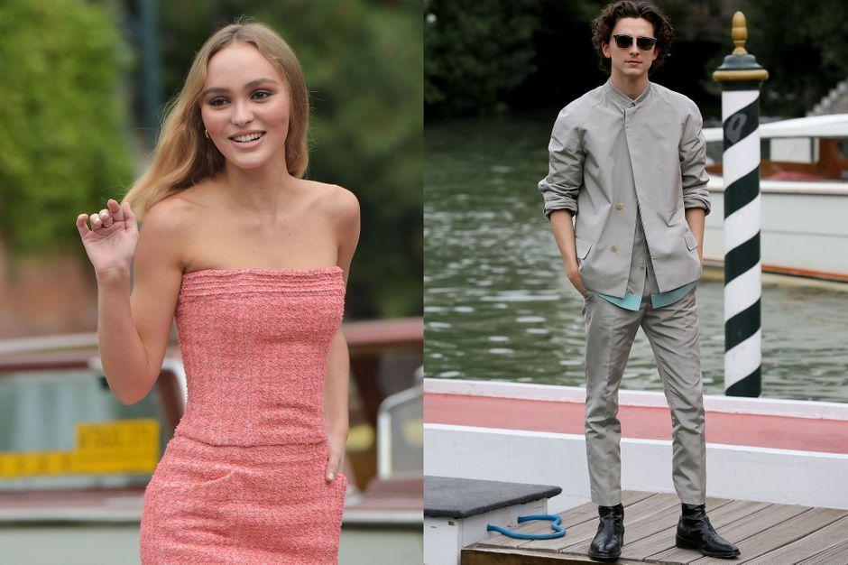 Lily Rose Depp Et Le Roi Timothee Chalamet A Venise
