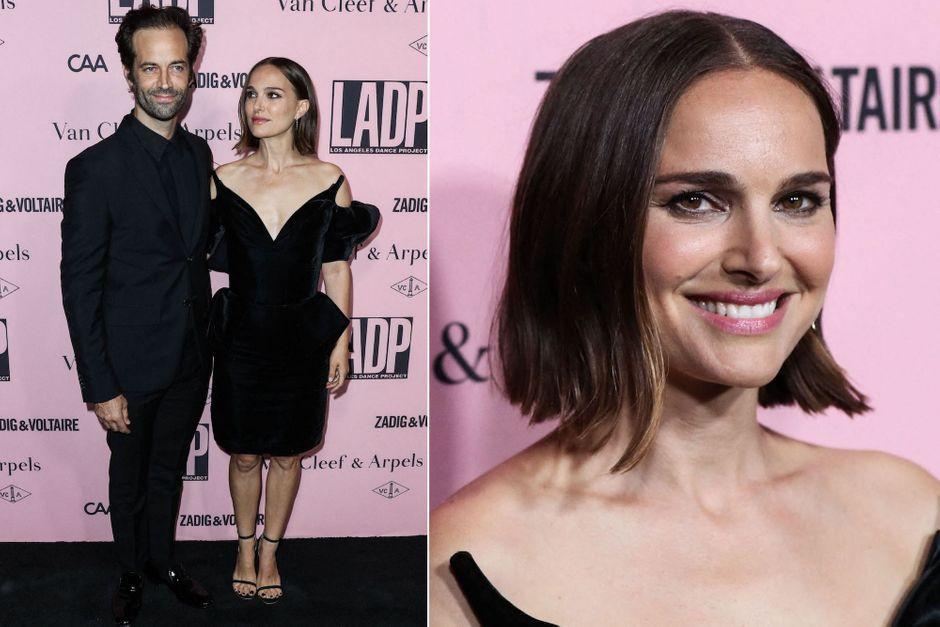Natalie Portman au bras de son époux Benjamin Millepied