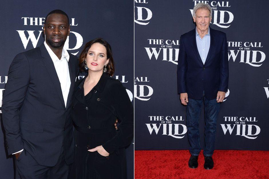 Omar Sy, chic sur le tapis rouge avec sa femme Hélène et Harrison Ford