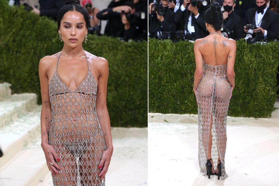 Zoë Kravitz répond aux critiques de sa tenue transparente du gala du MET