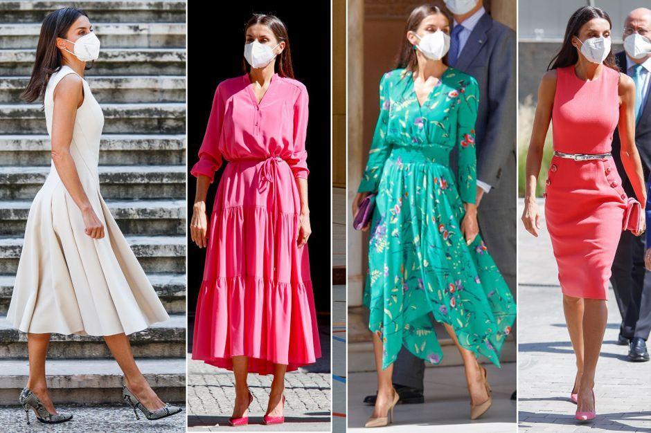 Letizia d'Espagne, une reine en blanc, en rose et en vert cette semaine