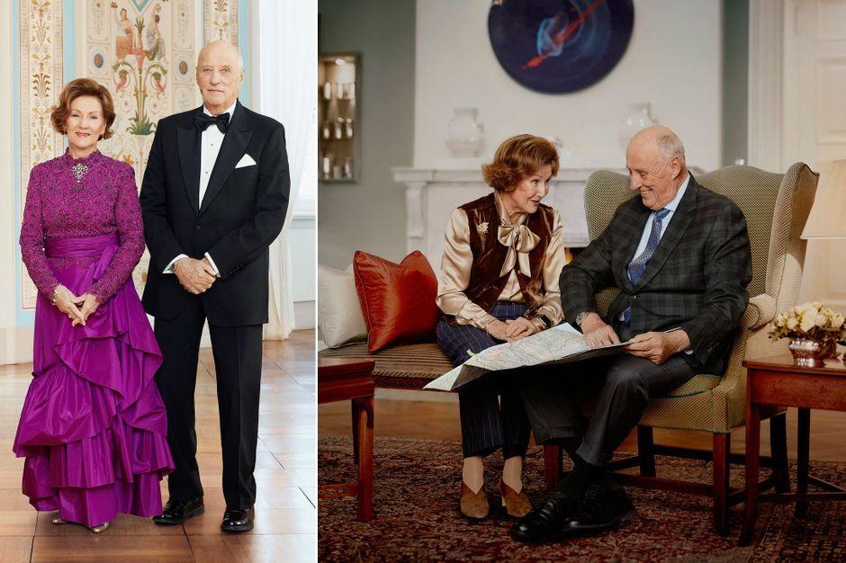 Le roi Harald V et la reine Sonja de Norvège dévoilent de nouveaux portraits pour les 30 ans de leur sacre