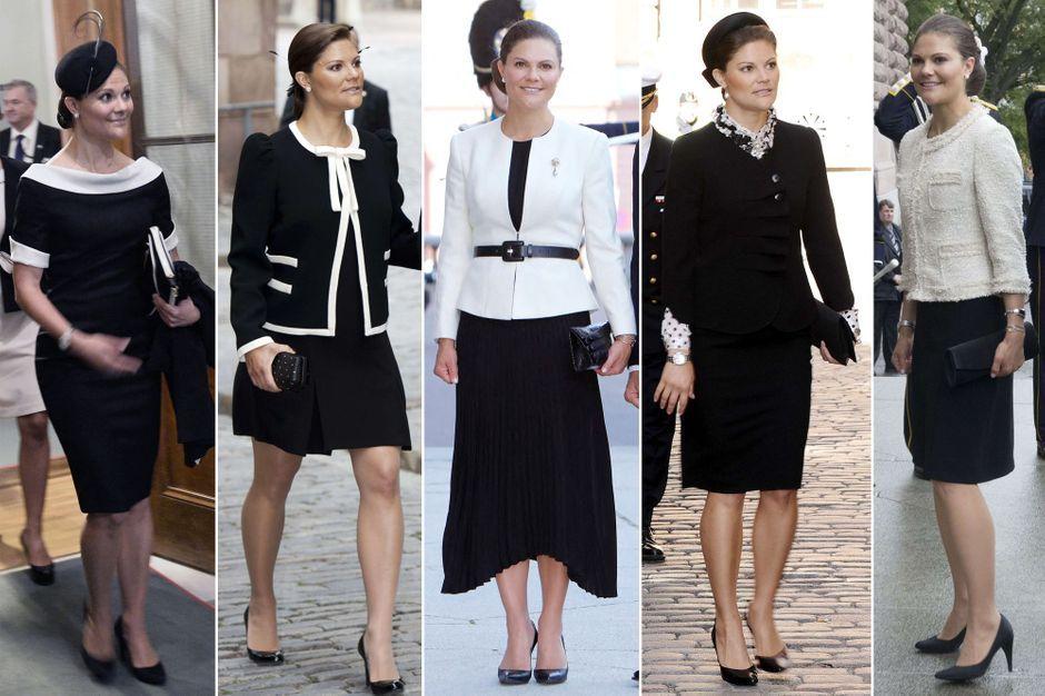 Princesse Victoria de Suède, zoom sur ses looks noirs et blancs aux rentrées parlementaires