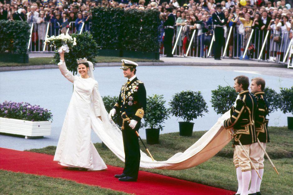 Silvia Sommerlath, superbe mariée en Dior il y a 45 ans, en 14 photos