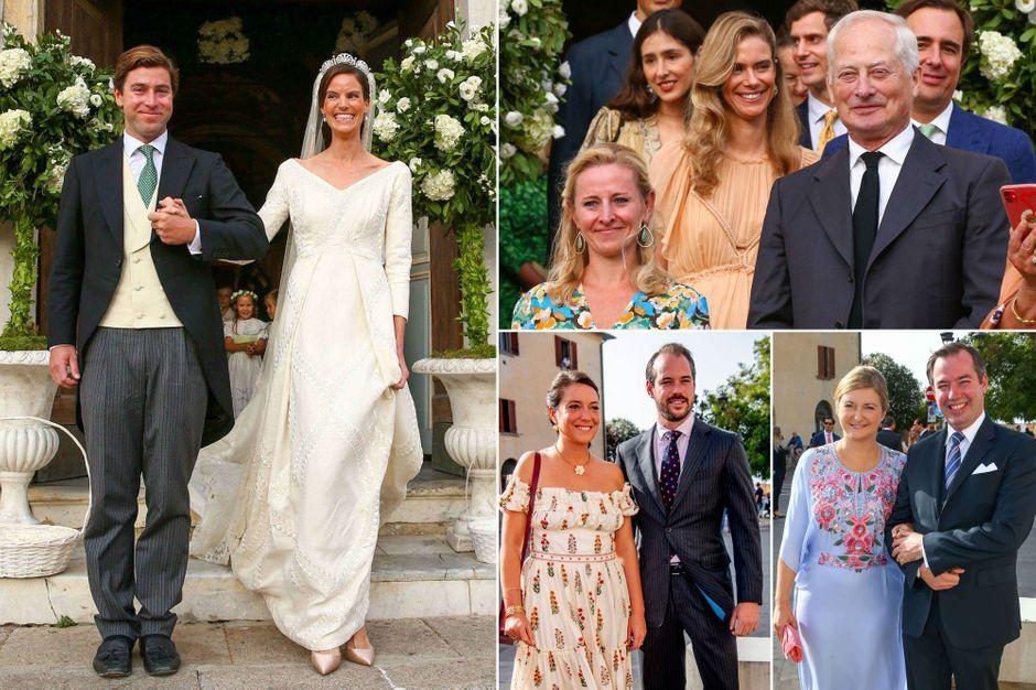 Au mariage de la princesse Marie-Astrid de Liechtenstein, nièce de deux souverains
