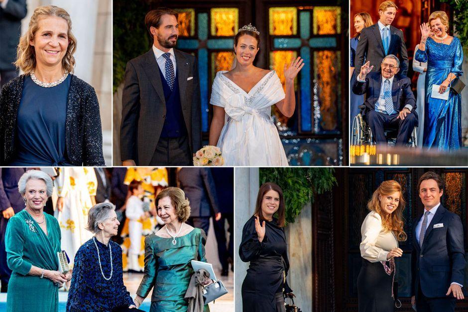 Au mariage du prince Philippos de Grèce et de Nina Flohr à Athènes