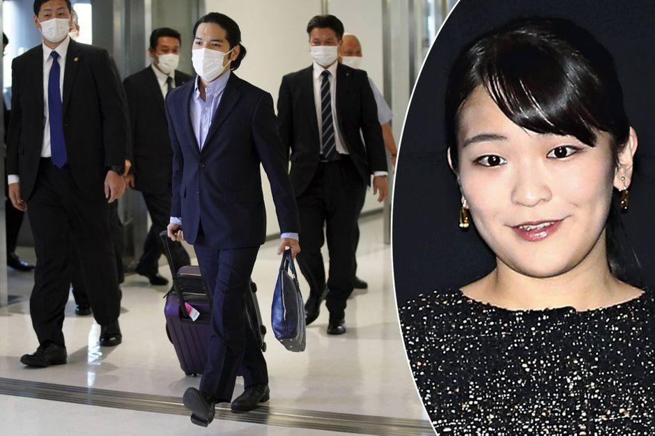 Mariage de la princesse Mako du Japon, son petit ami Kei Komuro est arrivé au Japon