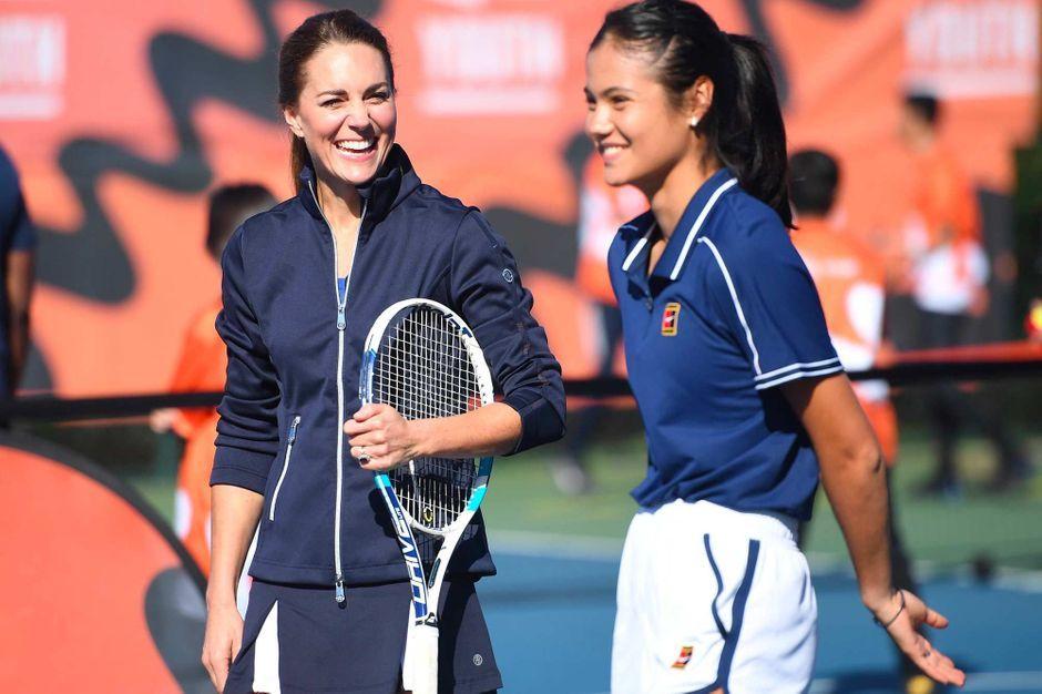 Kate Middleton, duo sportif avec la championne de tennis Emma Raducanu