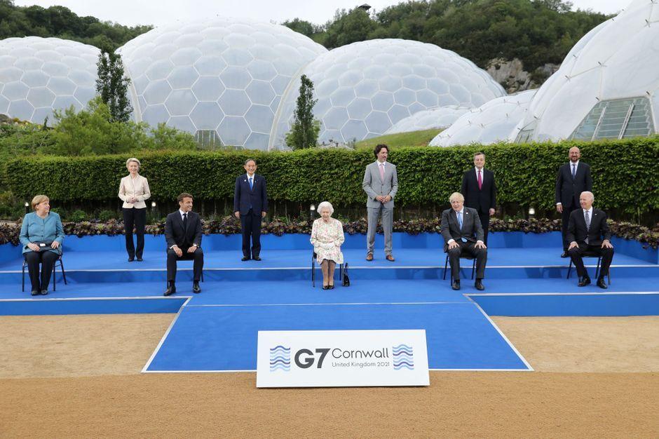 Elizabeth II, reine du G7 en Cornouailles