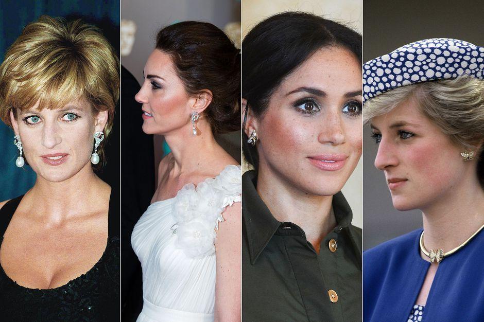 Quand Kate et Meghan portent les bijoux de Diana