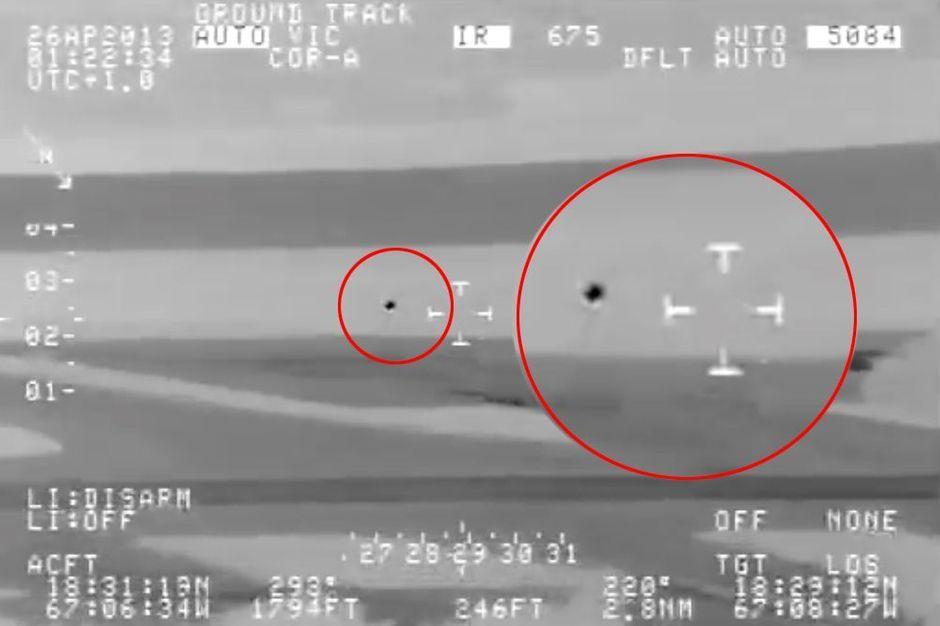 Une image tirée de la vidéo analysée par la Scientific Coalition for Ufology.