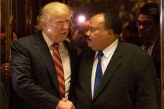 Donald Trump a rencontré le fils de Martin Luther King