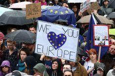 Trafalgar Square, théâtre de l'attachement des britanniques à l'UE