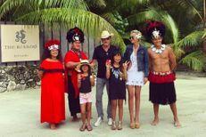 Le clan Hallyday coule des jours heureux à Tahiti