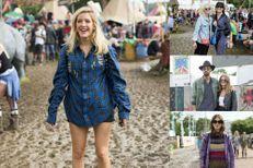 Les stars pataugent dans la boue à Glastonbury