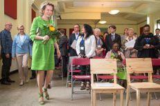 La reine Mathilde opte pour un total look vert pomme