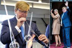 Avant de retrouver Maxima, Willem-Alexander a soufflé du verre